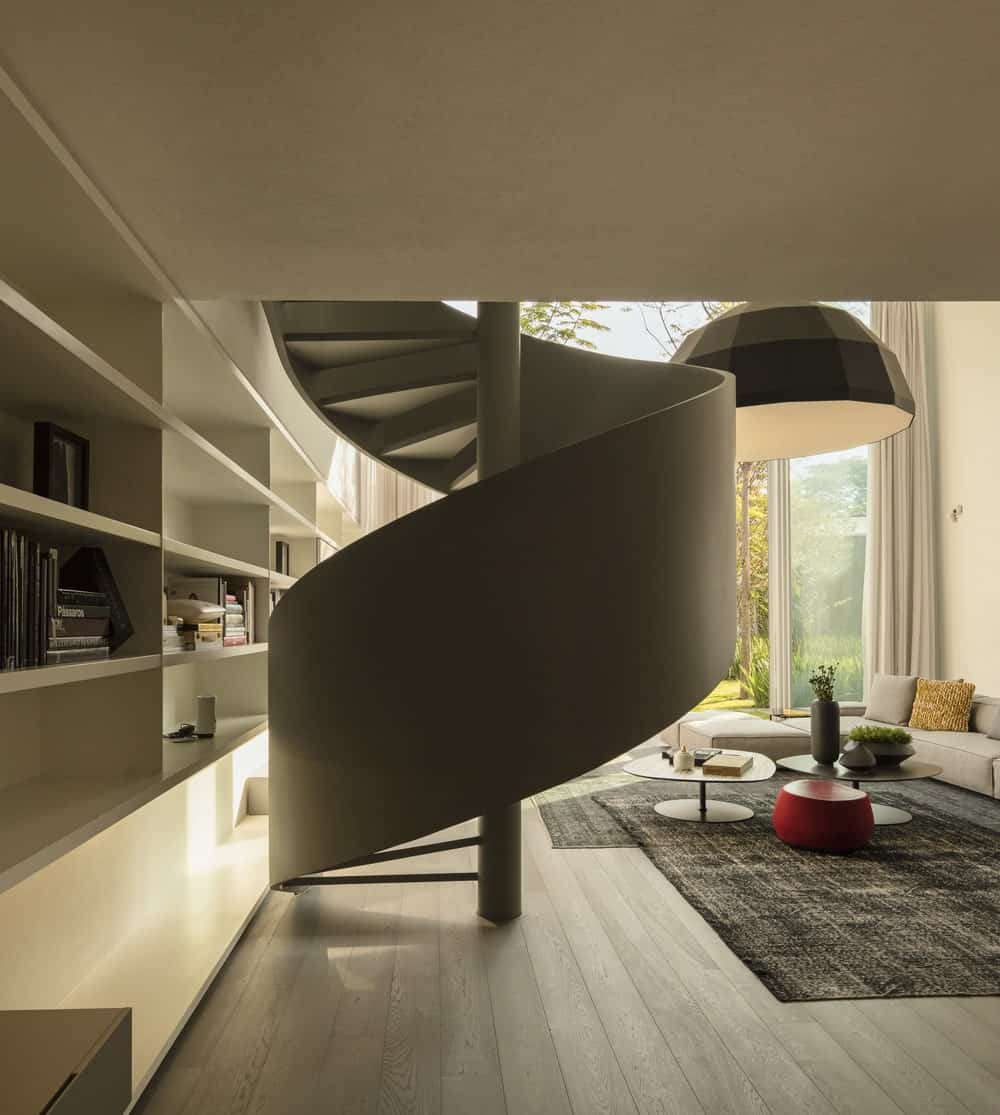 Spiral staircase in the Gama Issa v2.0 designed by studio mk27.