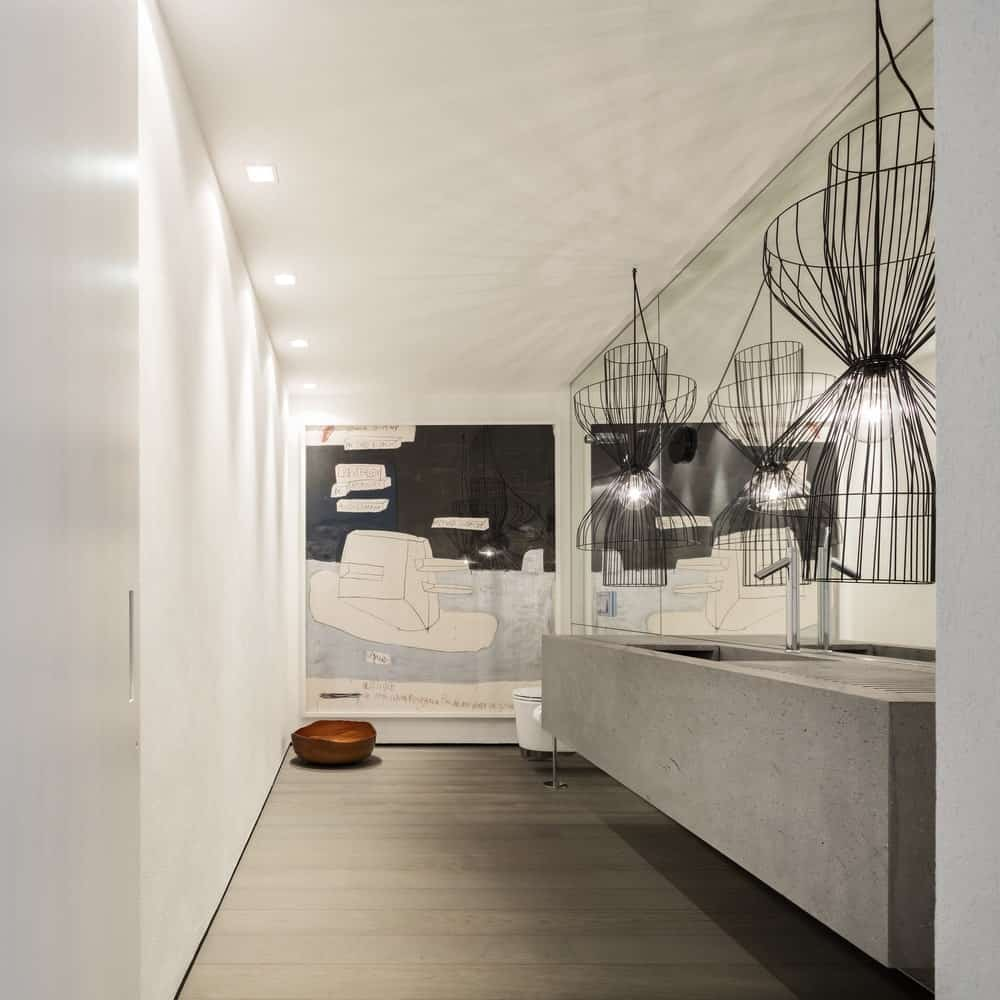 Bathroom in the Gama Issa v2.0 designed by studio mk27.