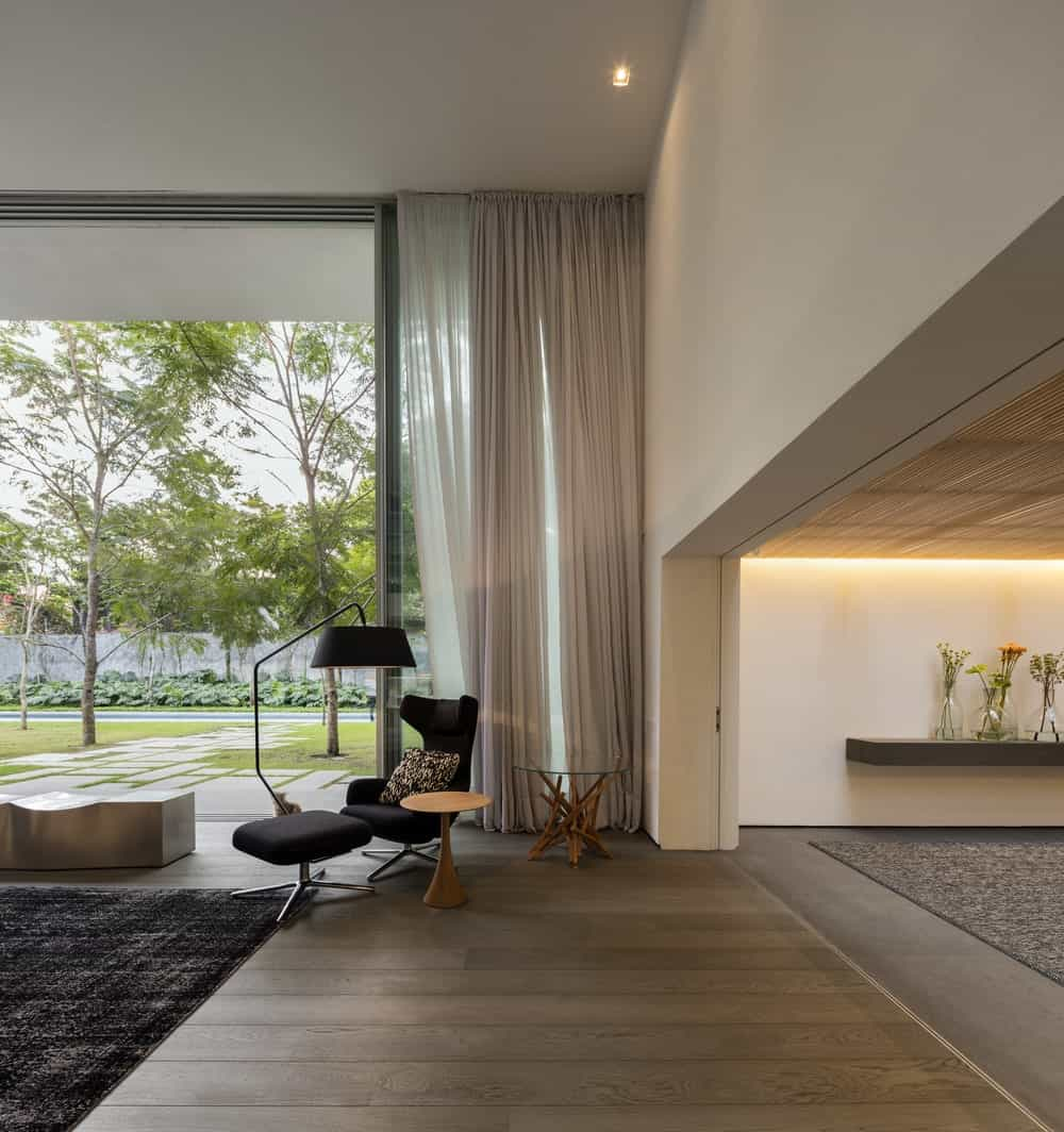 Sitting area in the Gama Issa v2.0 designed by studio mk27.