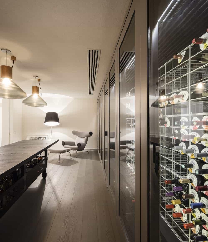 Wine storage in the Gama Issa v2.0 designed by studio mk27.