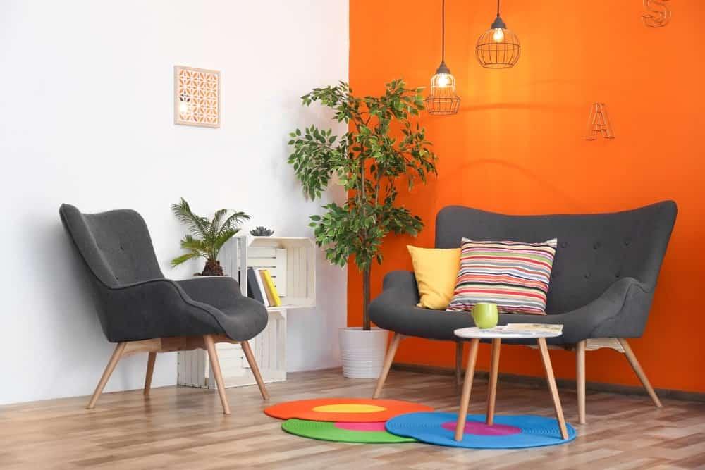 30 Orange And Grey Living Room Ideas Photos Home Stratosphere