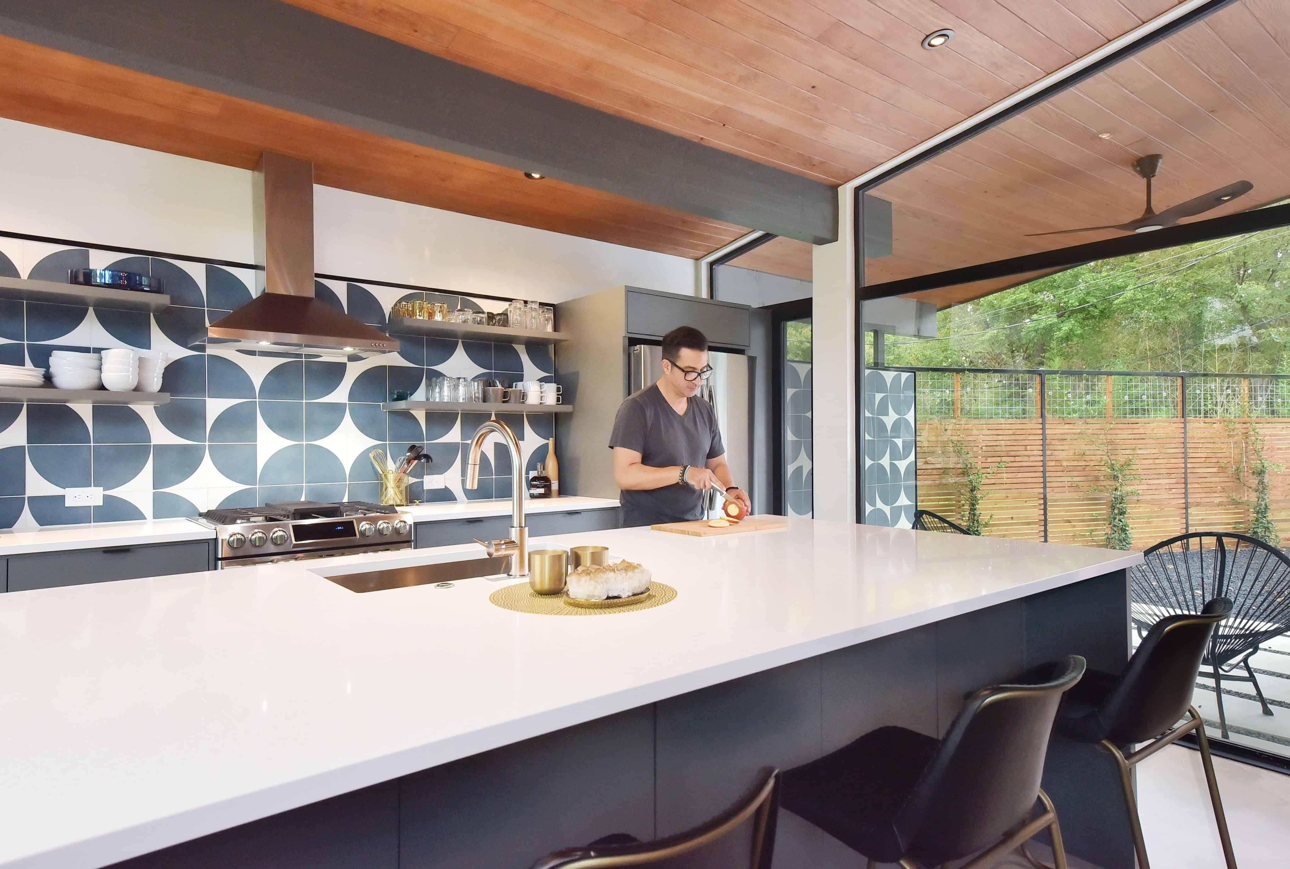 Kitchen in the Re-Open House designed by Matt Fajkus Architecture.