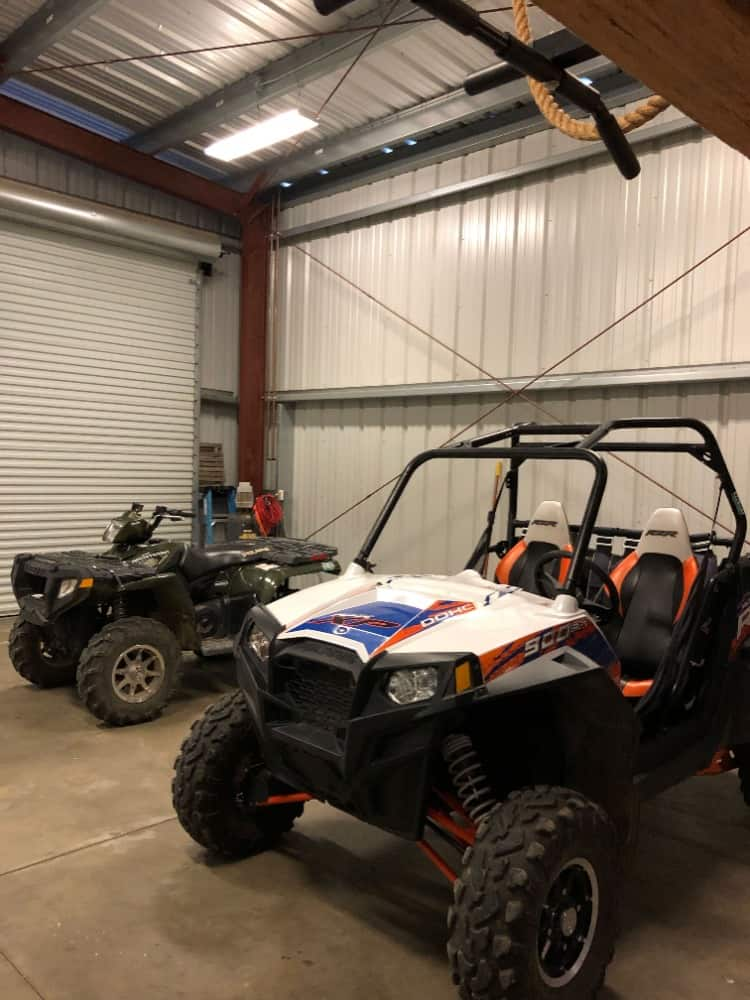 The garage is a large one and can store multiple small vehicles such as quad bikes. Images courtesy of Toptenrealestatedeals.com.