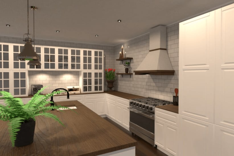 Kitchen designed by house designer