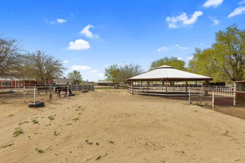 Here's the area where people can view the horses on the side. Images courtesy of Toptenrealestatedeals.com.