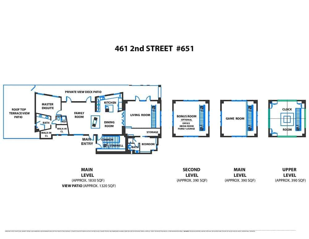 The complete floor plan of the clock tower penthouse. Images courtesy of Toptenrealestatedeals.com.
