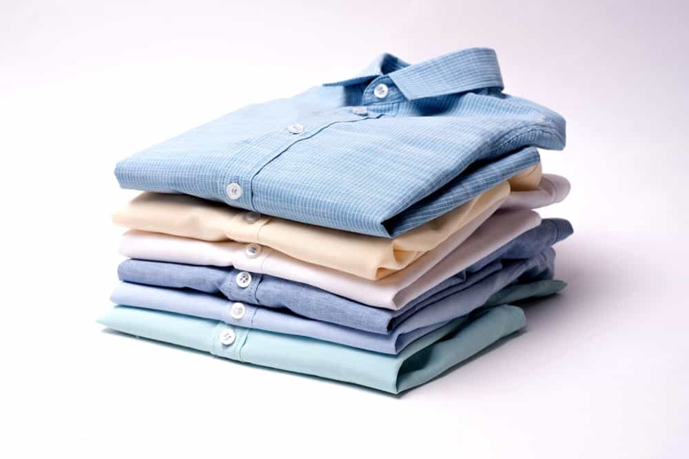 A pile of properly folded clothes.