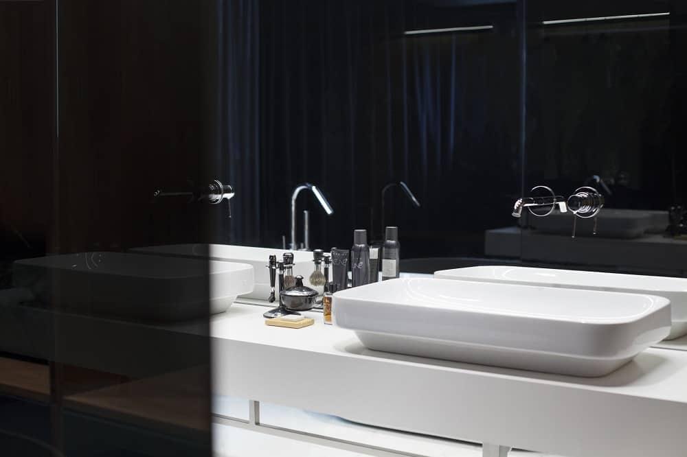 Dual sink vanity in the SPV29 designed by ALL In STUDIO LTD.