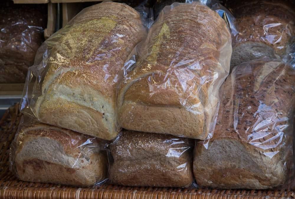 Storing homemade breads.