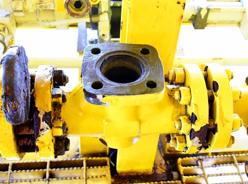 PM and Inspection check valve on closed drain sump pump process: check valve.