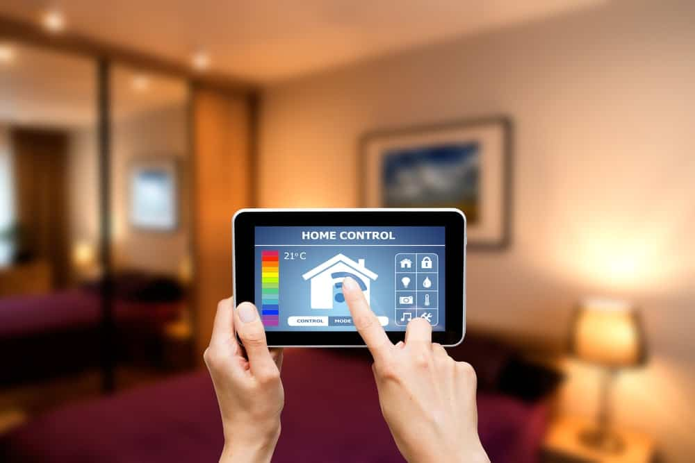 Remote control system for a modern house using a tablet.