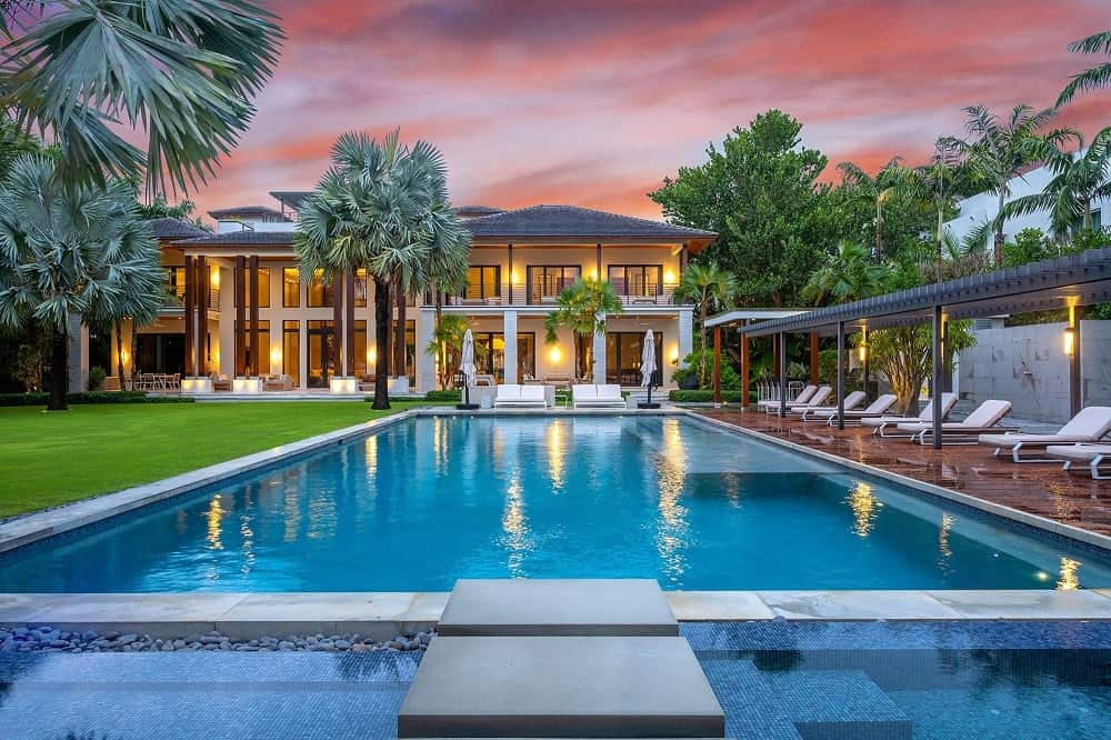 The jewel of the backyard is the large swimming pool beside the large lawn of grass enough for any party adorned with various tropical trees and relaxing sitting areas. Images courtesy of Toptenrealestatedeals.com.