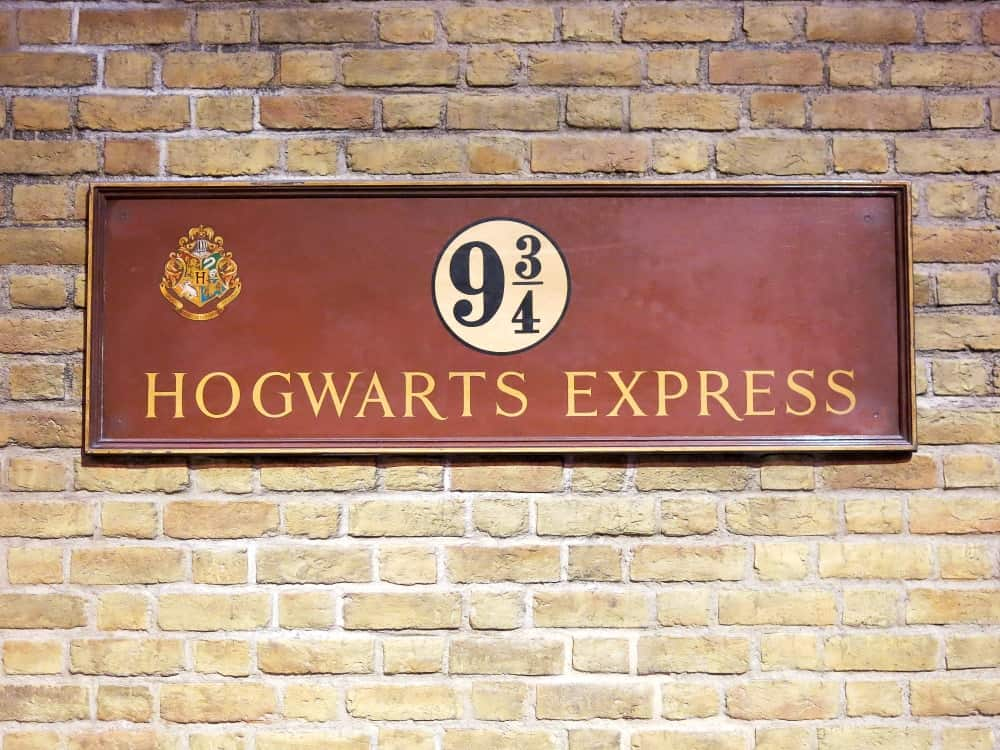 A signage for Hogwarts Express from the Harry Potter movie series.