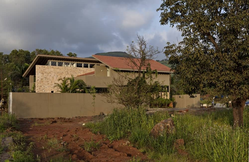 Exterior view of the Monsoon Retreat designed by Abraham John Architects.