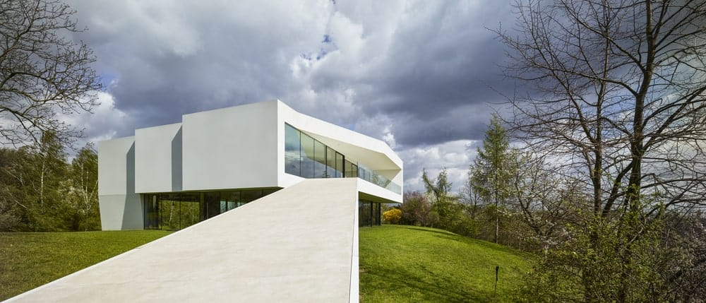 Exterior view of the By The Way House designed by Robert Konieczny KWK Promes.