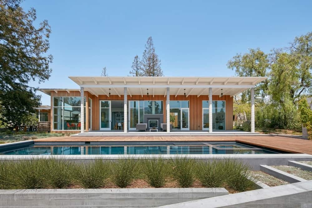 Exterior view of the Modern-Day California Ranch House designed by Malcolm Davis Architecture.