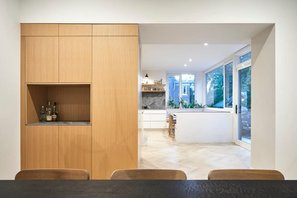 Breakfast nook in the Baby Point Residence by designed Batay-Csorba Architects.