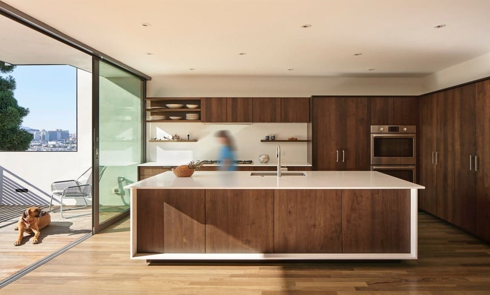 Kitchen in the House on Hillside designed by Terry & Terry Architecture.