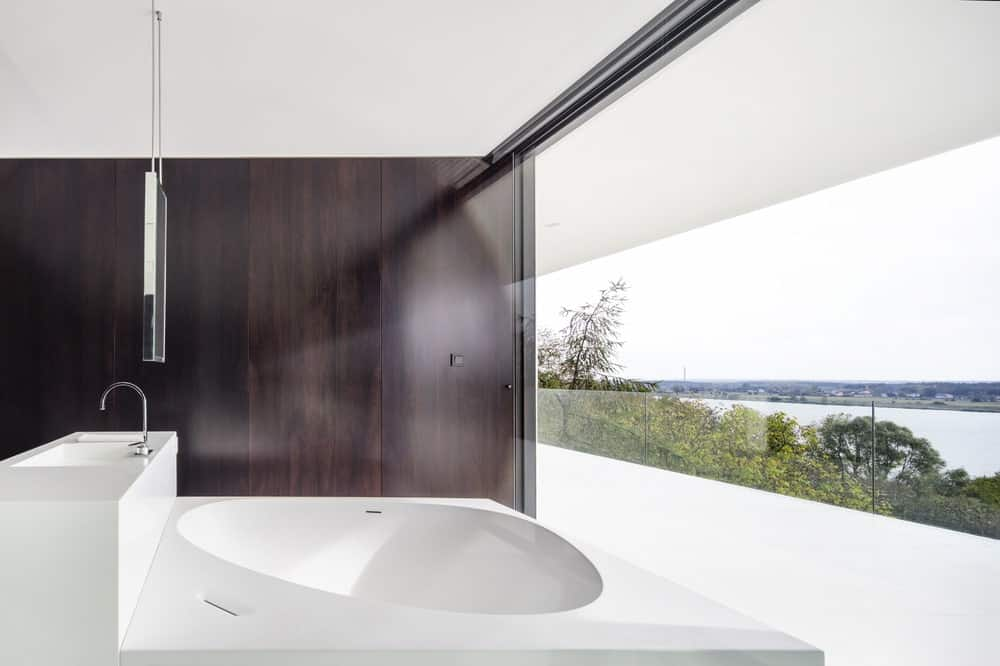 Primary bathroom in the By The Way House designed by Robert Konieczny KWK Promes.