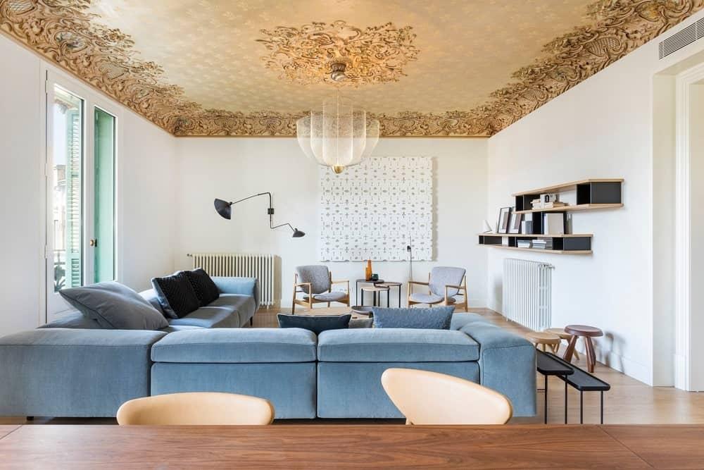 Living room in the Casa Burés designed by Estudio VILABLANCH + TDB Arquitectura.