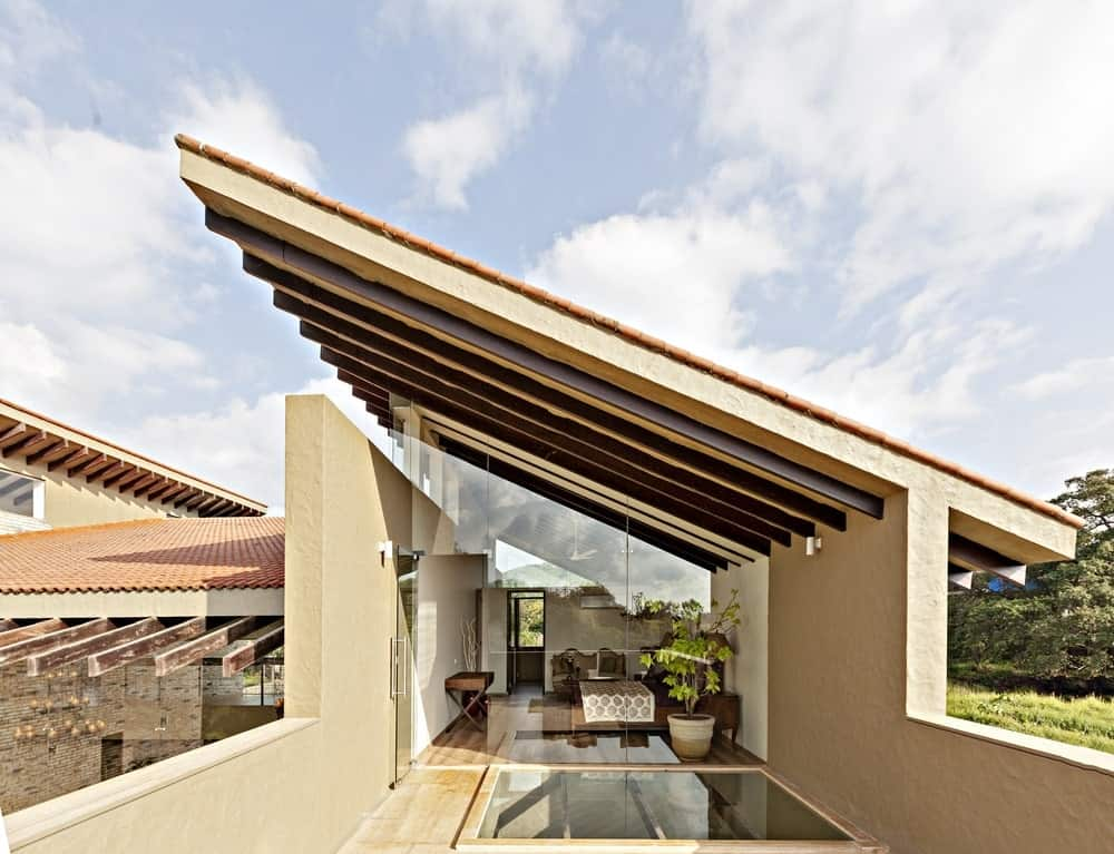 Upper deck in the Monsoon Retreat designed by Abraham John Architects.