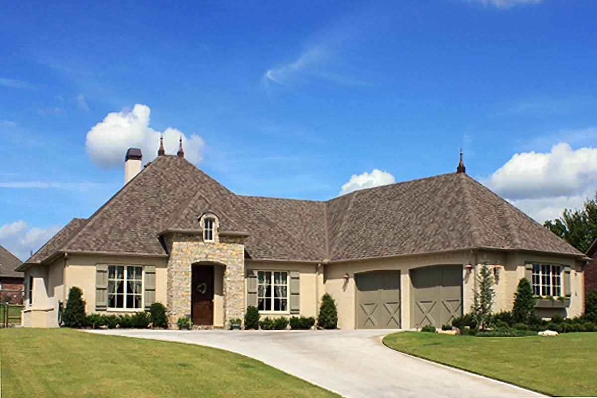 3-Bedroom Single-Story French Country Home
