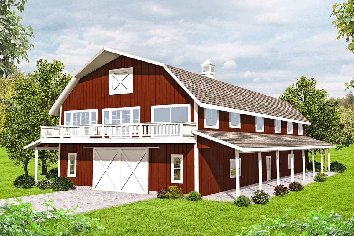 3-Bedroom Two-Story Barn-Style Home with Expansive Storage