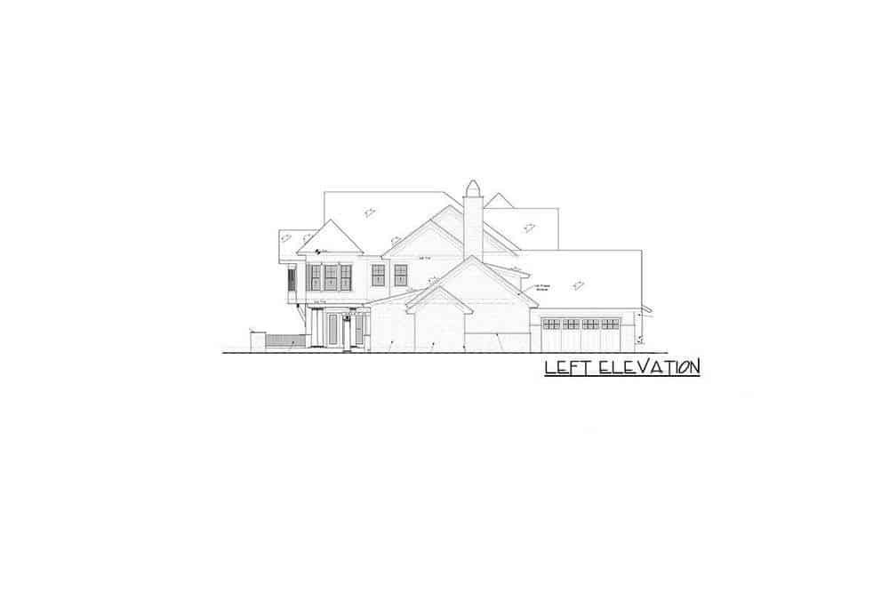 This is the left elevation of the house where you can see a set of doors that fold to have a huge open wall.