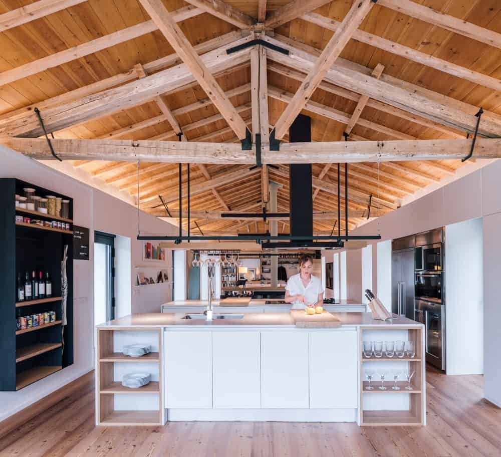 Kitchen in the House in Güemes designed by Zooco Estudio.