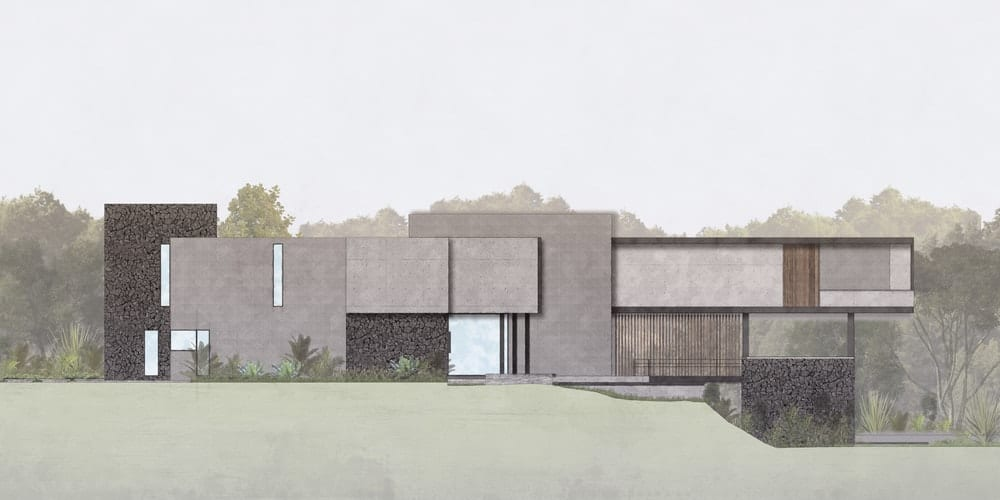 Perspective sketch of the Casa Kaleth designed by Di Frenna Arquitectos.