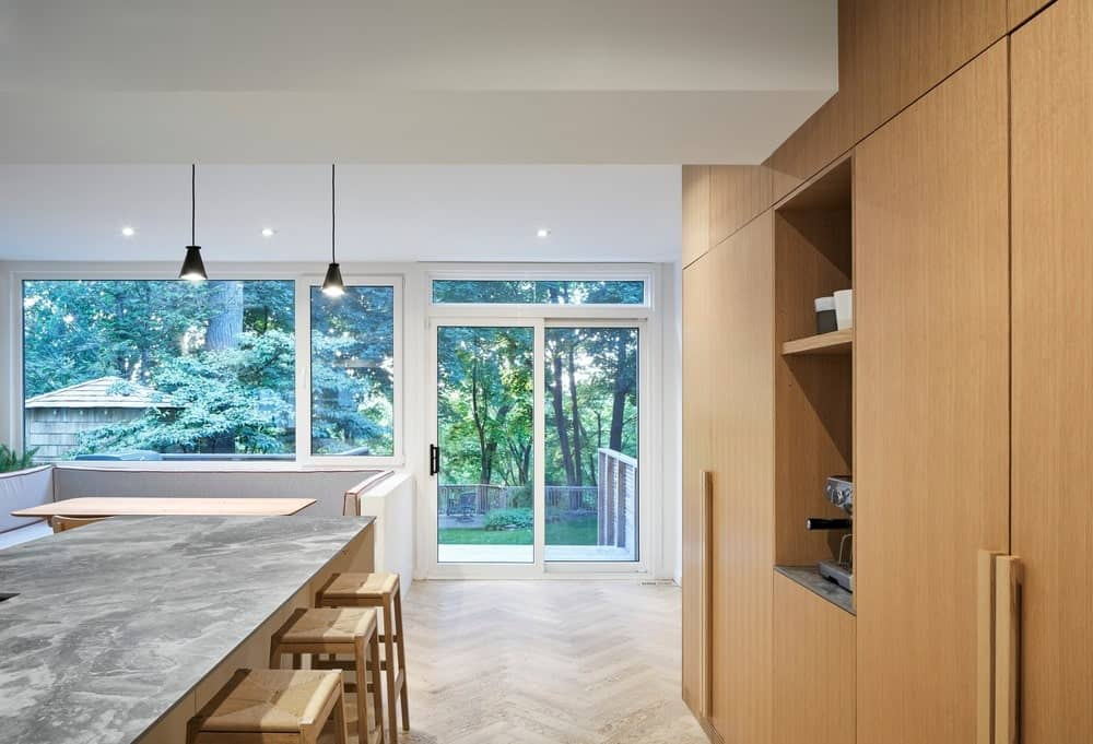 Kitchen in the Baby Point Residence by designed Batay-Csorba Architects.