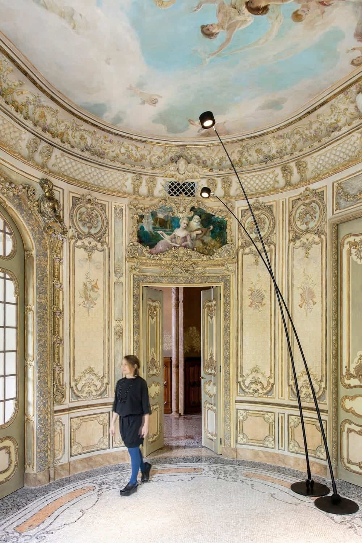 Rotunda foyer in the Casa Burés designed by Estudio VILABLANCH + TDB Arquitectura.