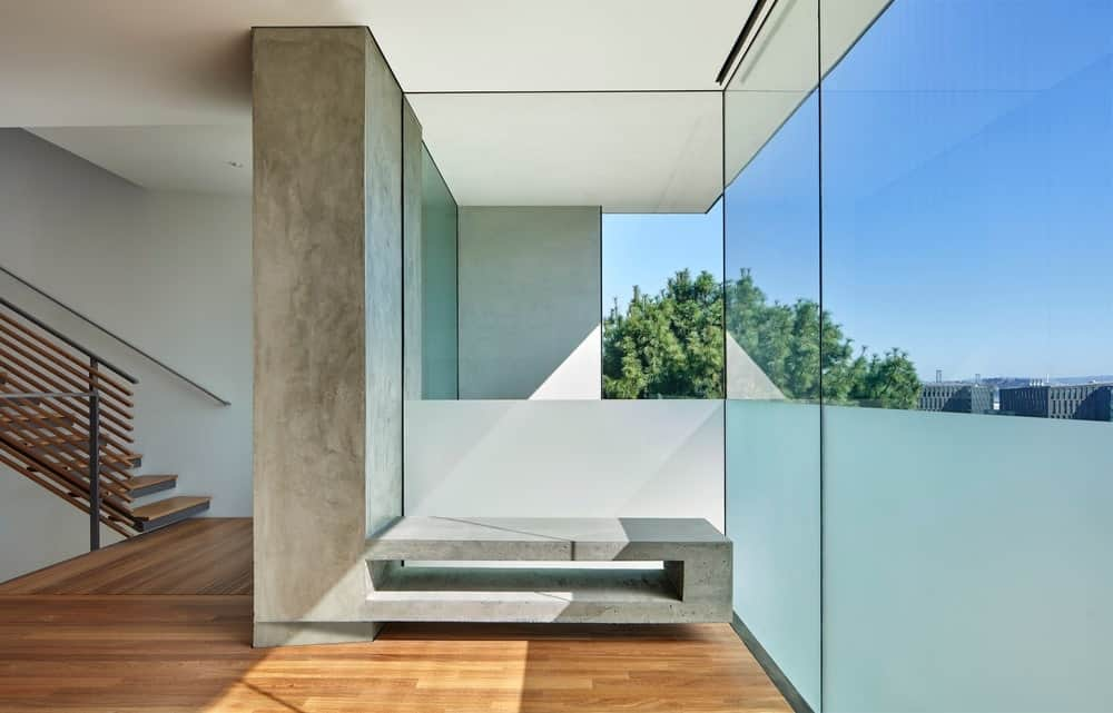 Sitting area in the House on Hillside designed by Terry & Terry Architecture.