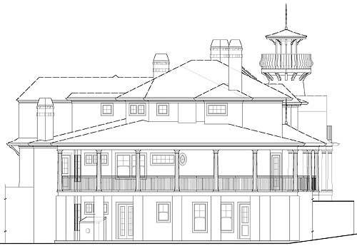 Front view drawing of the house.