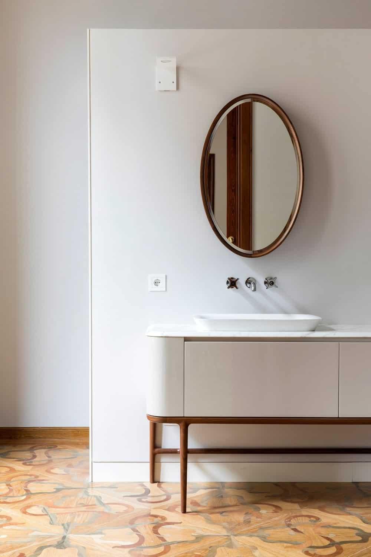 Powder room in the Casa Burés designed by Estudio VILABLANCH + TDB Arquitectura.