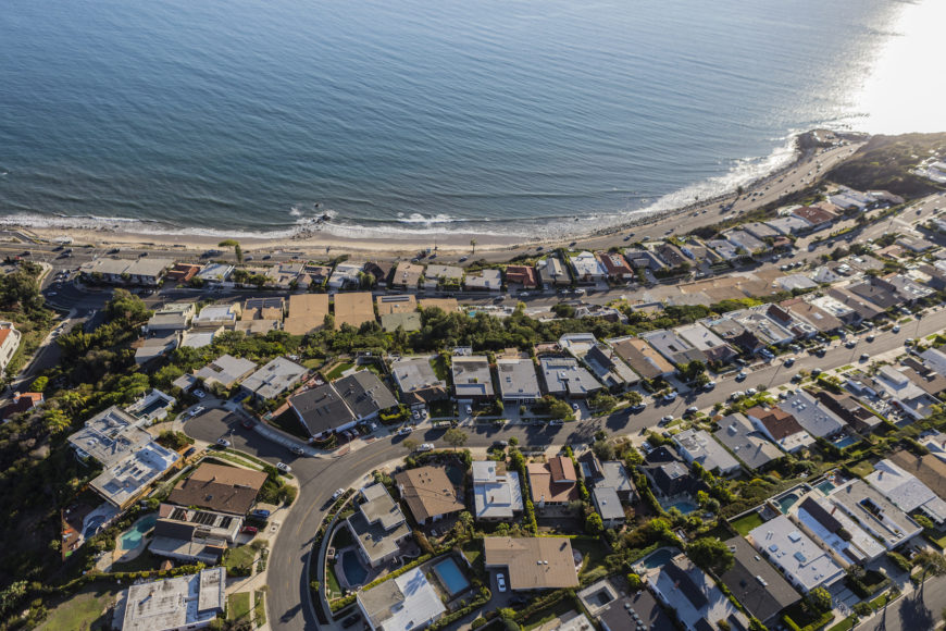 Aerial view of Pacific Palisades
