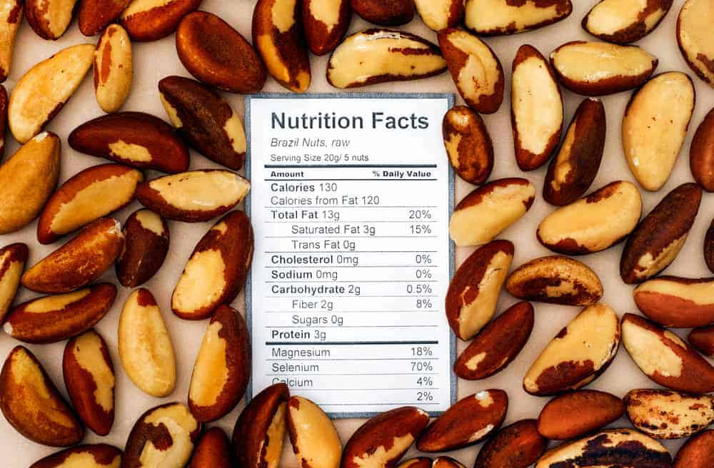 Brazil nut nutritional facts chart