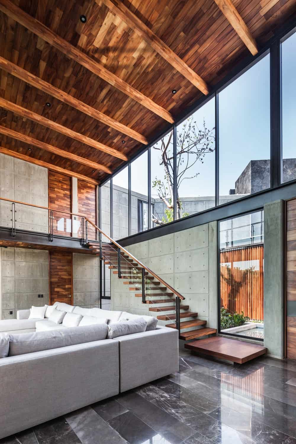 Living room in the Casa Kaleth designed by Di Frenna Arquitectos.