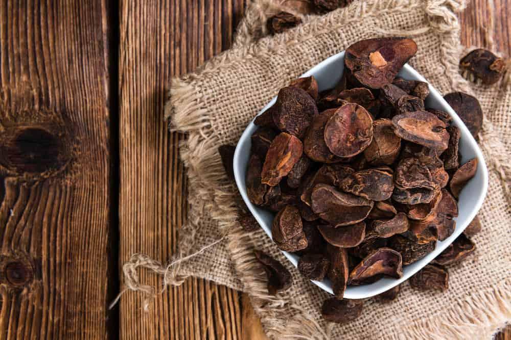 Bowl of dried kola nuts