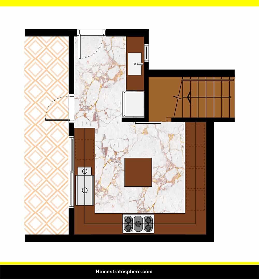 Kitchen 14 layout