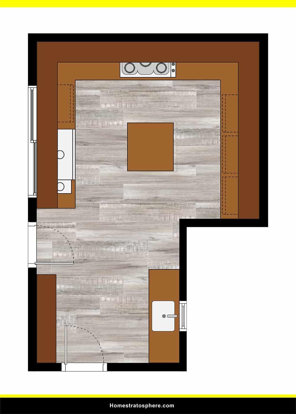 Kitchen 17 layout
