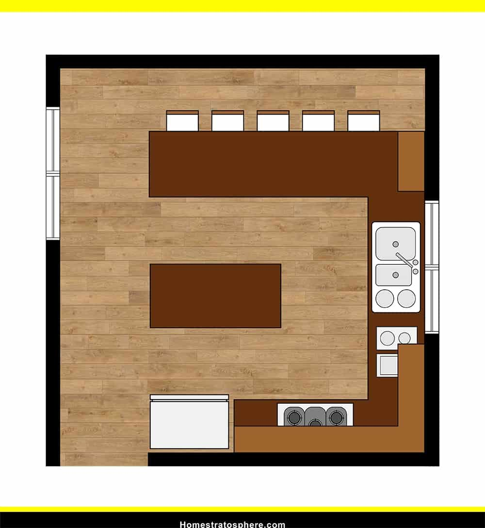 Kitchen 18 layout