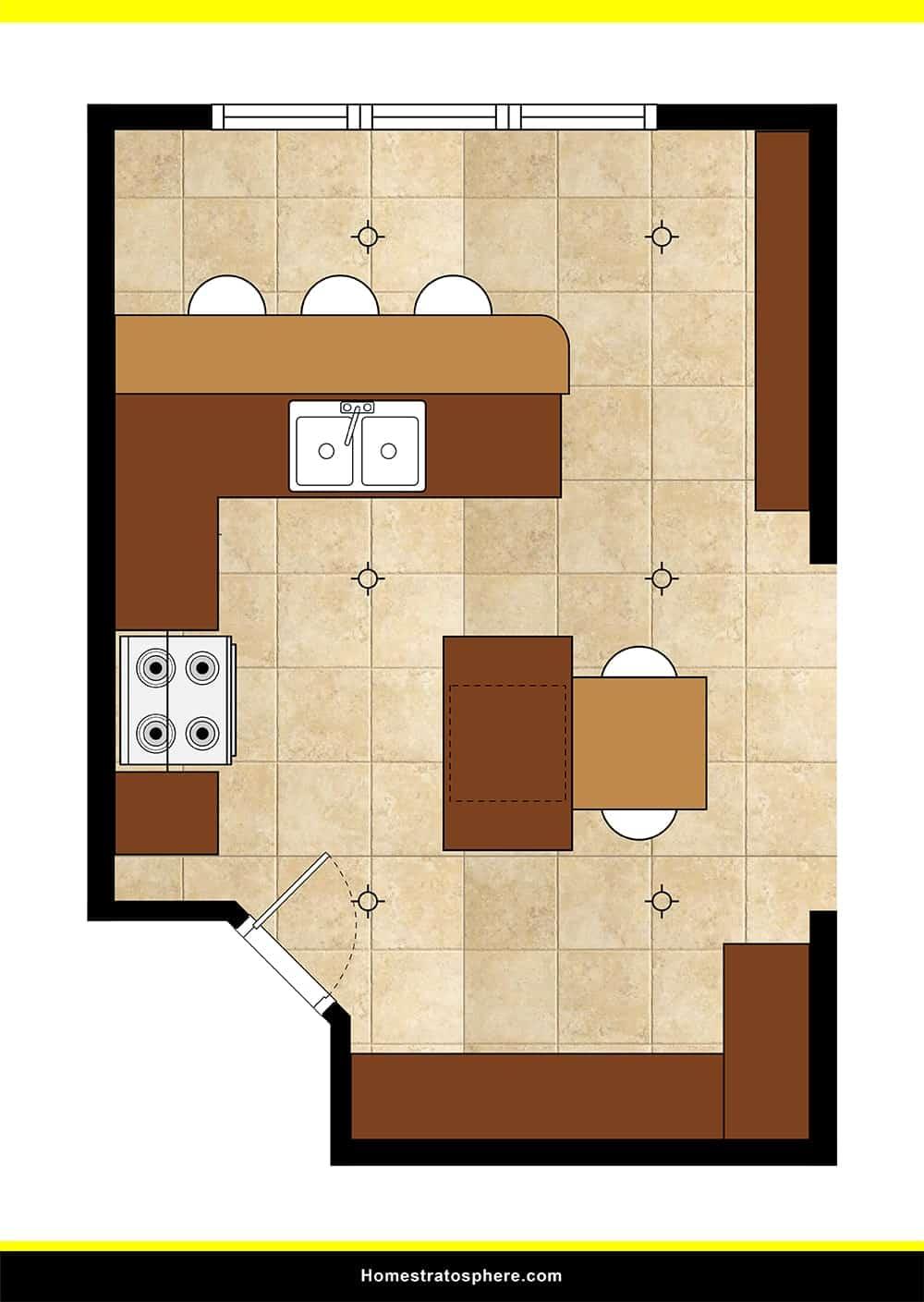Kitchen 43 layout