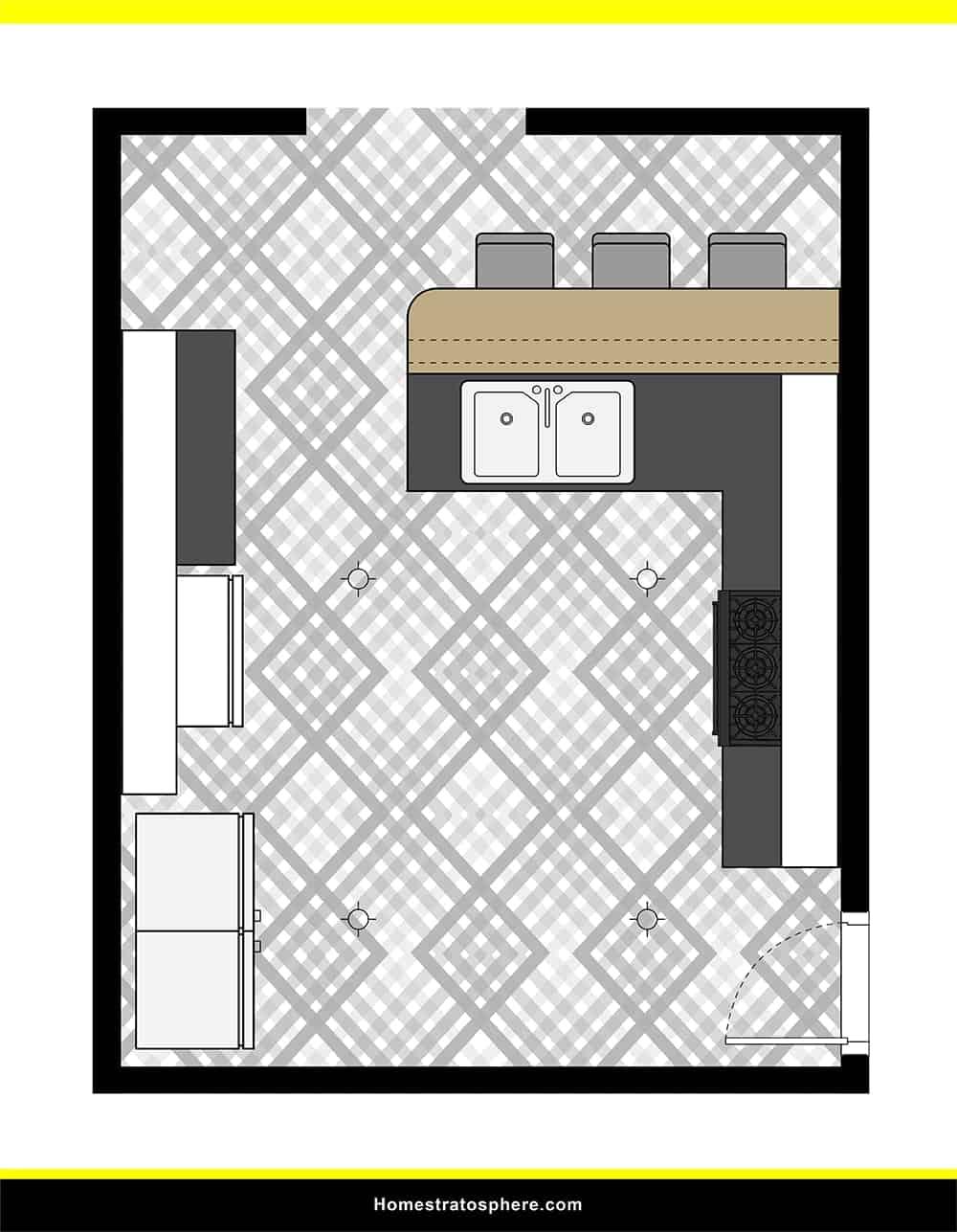 Kitchen 45 layout