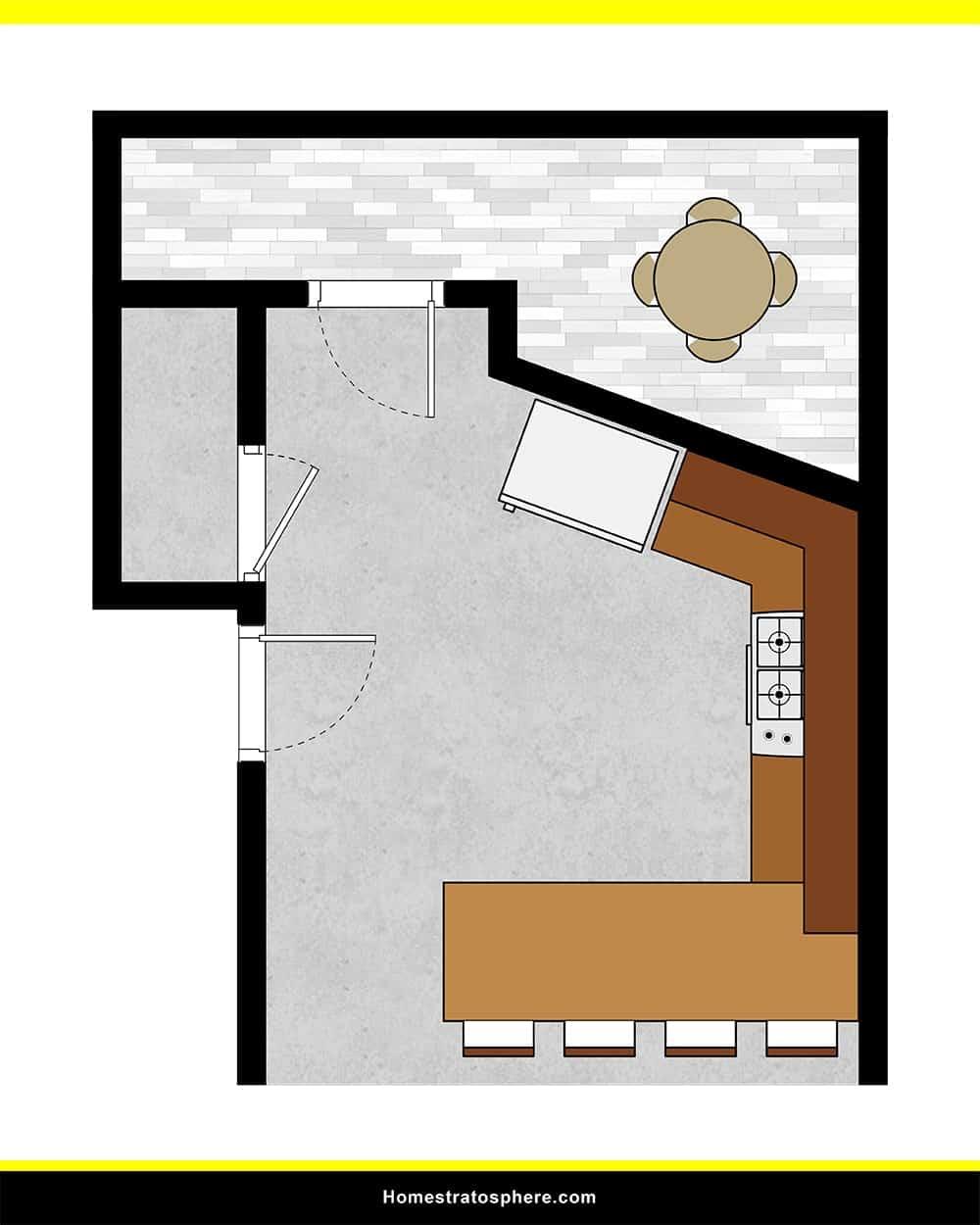 Kitchen 46 layout