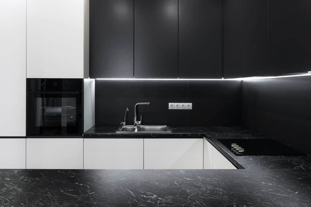 50 Kitchens With Black Granite Countertop Surfaces Photos Home Stratosphere