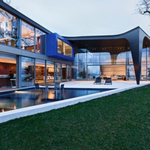 Swimming pool in the Lake House designed by ARRCC.