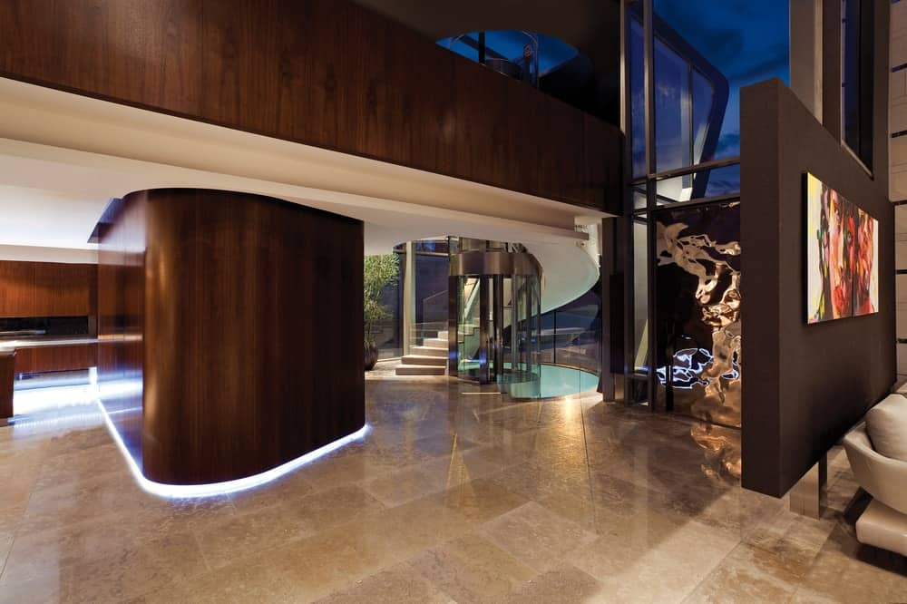 Hallway in the Lake House designed by ARRCC.