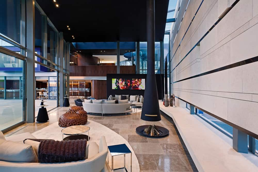 Living room in the Lake House designed by ARRCC.