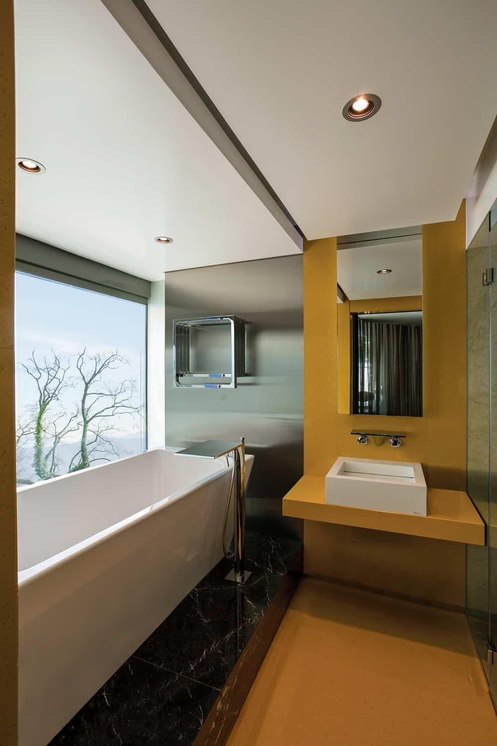 Primary bathroom in the Lake House designed by ARRCC.